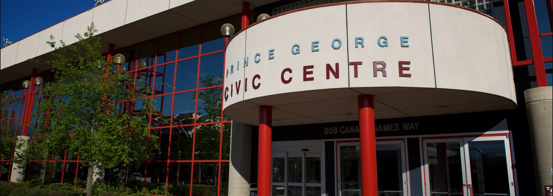 Prince George Conference and Civic Centre Main Entrance