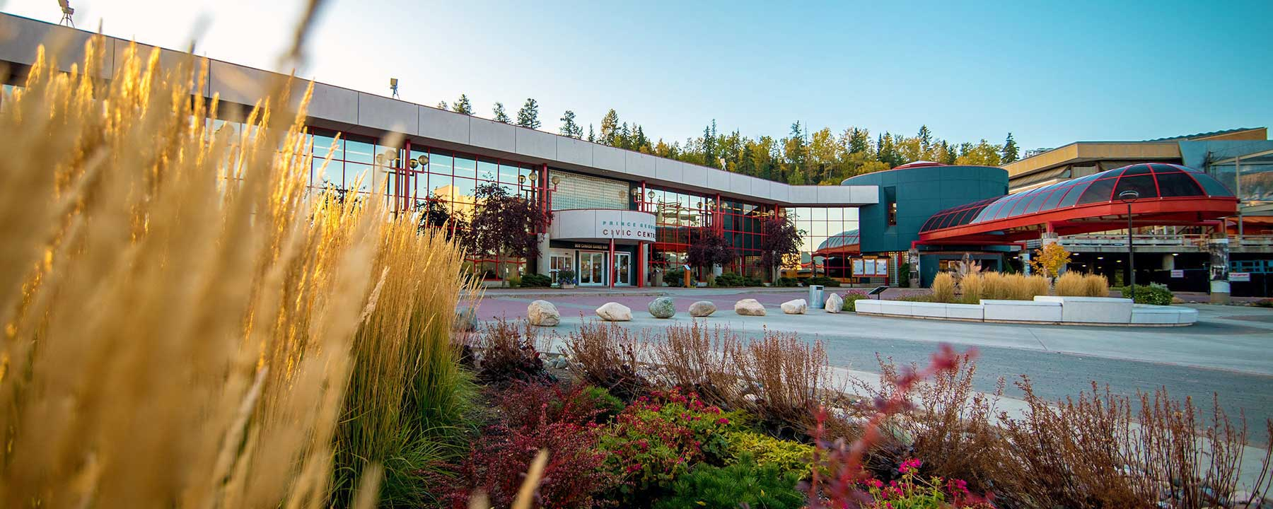 Exterior photo of the Prince George Conference and Civic Centre